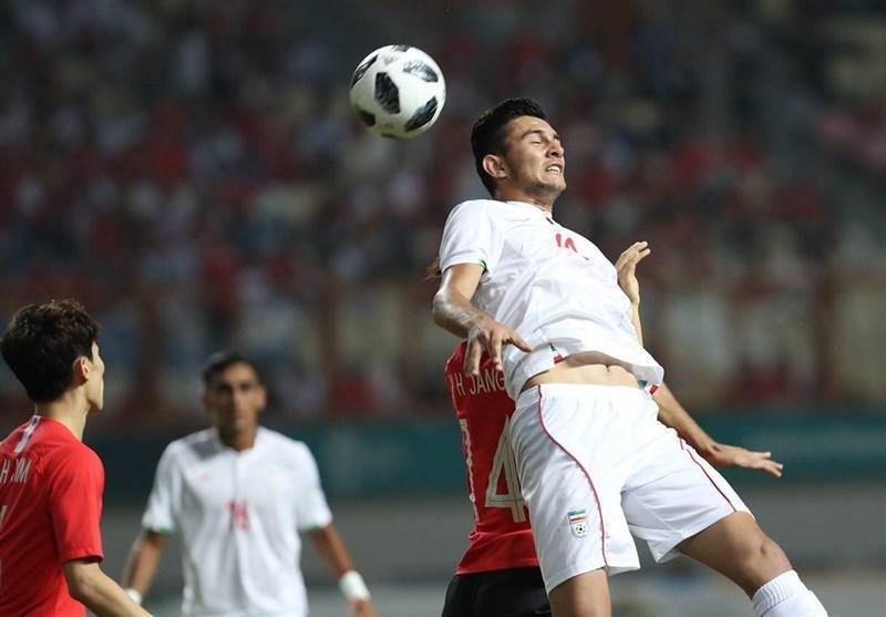بازی های آسیایی 2018، برتری یک نیمه ای کره جنوبی مقابل امیدهای ایران