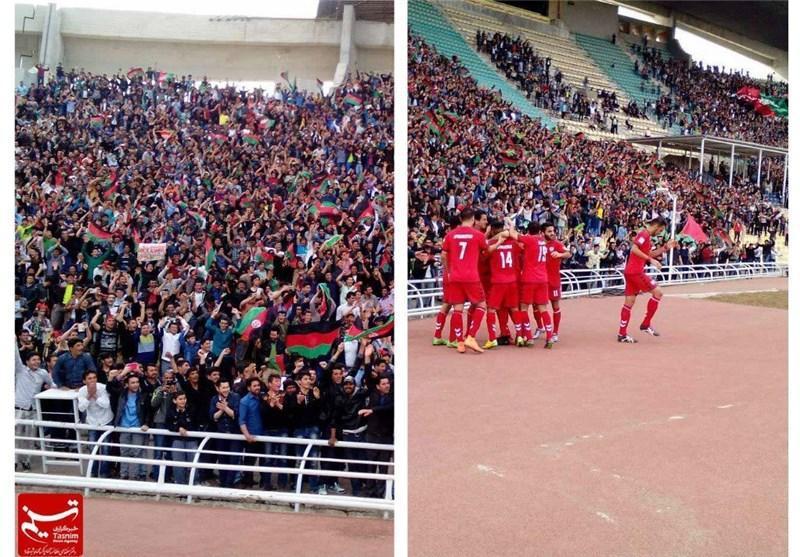 فیلم لحظه صعود تیم ملی فوتبال افغانستان به جام ملت های آسیا و شادی مهاجرین در تهران