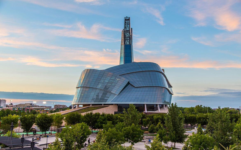 ویژگی های معماری موزه حقوق بشر کانادا