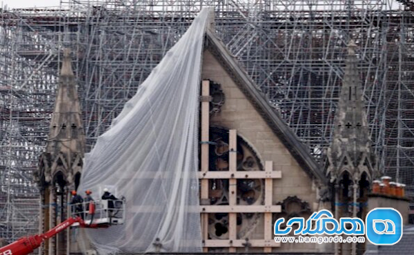 شروع شدن بخشی از بازسازی کلیسای نوتردام فرانسه