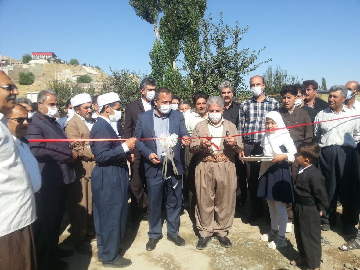 خبرنگاران افتتاح 2 طرح عمرانی و خدماتی در بوکان
