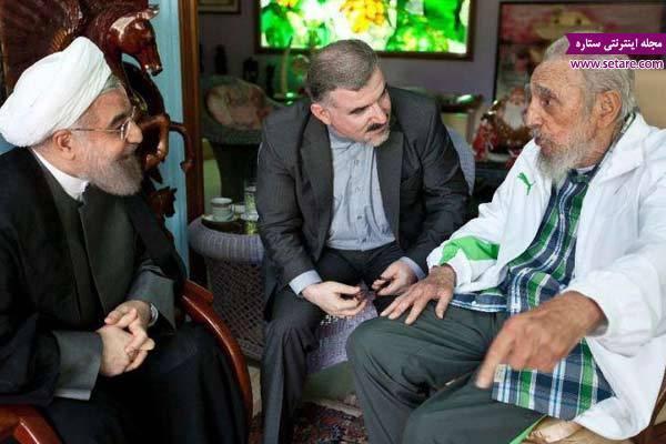 ملاقات حسن روحانی با فیدل کاسترو در هاوانا پایتخت کوبا