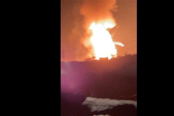 انفجار انبار کپسول گاز در مرز میان سوریه و لبنان