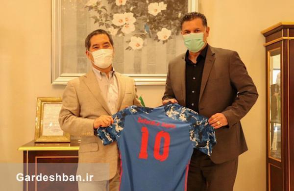 دیدار تجاری-ورزشی علی دایی و سفیر ژاپن در تهران